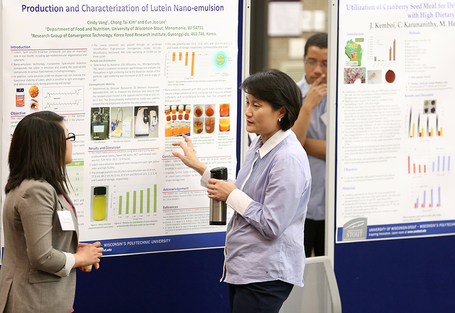 Professor Eun Joo Lee, kinesiology, health, food and nutritional sciences, takes part in Research Day in 2014