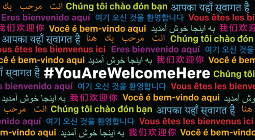 You are welcome here banner