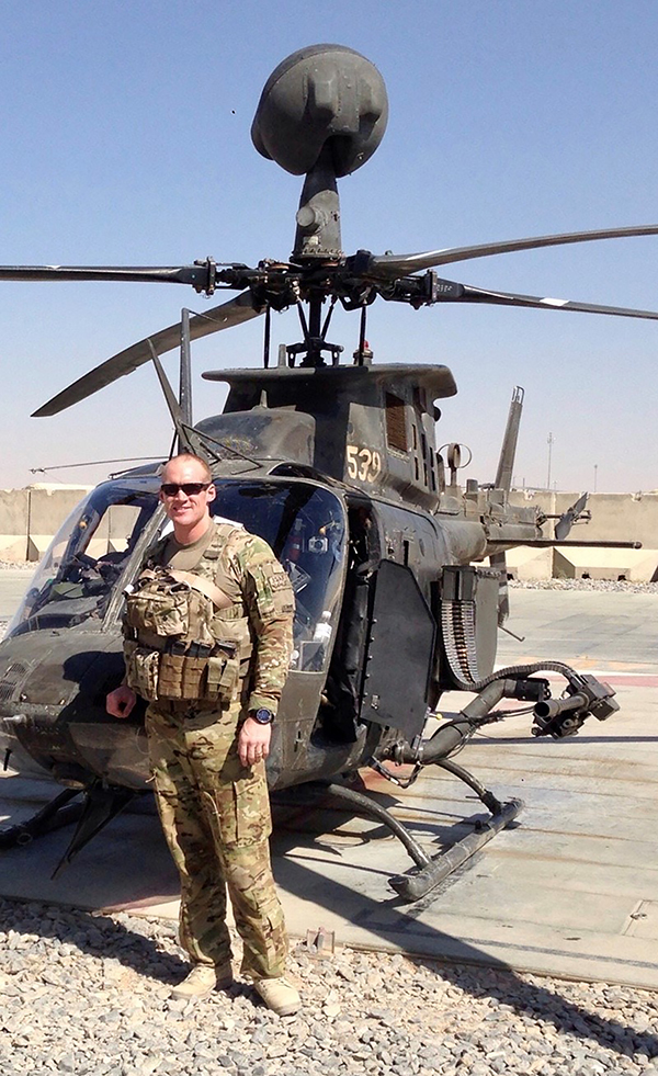 Jordan Schumacher piloted the OH-58 Delta helicopter when he was deployed to Afghanistan in 2013. He also is trained to pilot planes for the Army.